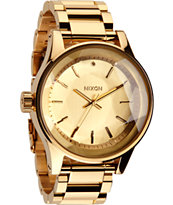 Nixon The Facet All Gold Watch