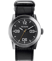 Nixon The Private Black Tape Analog Watch