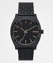 Nixon Time Teller All Black & Rose Gold Watch