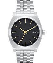 Nixon Time Teller Black Stamped & Gold Analog Watch