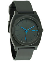Nixon Time Teller P Matte Drab & Cyan Analog Watch