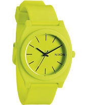 Nixon Time Teller P Neon Yellow Analog Watch
