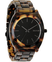 Nixon Timer Teller Acetate Tortoise Analog Watch
