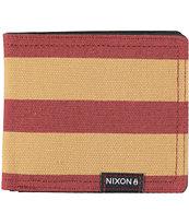 Nixon Tree Hugger Oxblood & Khaki Bifold Wallet