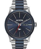 Nixon x Primitive Sentry Silver & Blue Watch