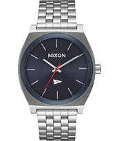 Nixon x Primitive Time Teller Silver & Blue Watch