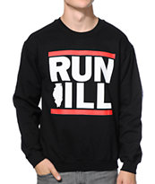 No Coast Run Ill Black Crew Neck Sweatshirt