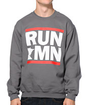 No Coast Run MN Charcoal Crew Neck Sweatshirt