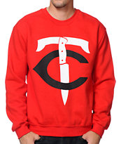 No Coast TC-Stab Red Crew Neck Sweatshirt