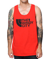 No Coast Windy City Red Tank Top