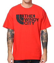 No Coast Windy City Red Tee Shirt