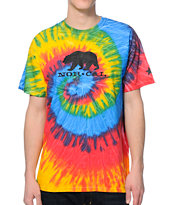 Nor Cal Black Bear Tie Dye Tee Shirt
