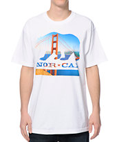 Nor Cal City Bear White Tee Shirt