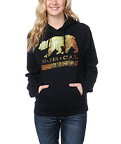 Nor Cal Girls Redwood Black Pullover Hoodie