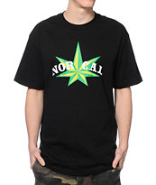 Nor Cal Green Star Black Tee Shirt