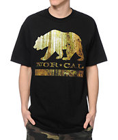 Nor Cal Redwood Bear Black Tee Shirt