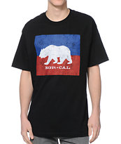 Nor Cal Split Bear Black Tee Shirt