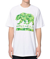 Nor Cal Weed Bear White Tee Shirt