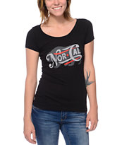 Nor Cal Women's Generations Black Cap Sleeve Tee Shirt