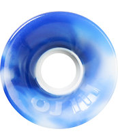 OJ III Hot Juice 60mm Blue & White Swirl Longboard Wheels