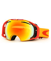 Oakley Airbrake Golden Poppy & Fire Iridium 2014 Snow Goggle