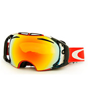 Oakley Airbrake Shaun White Future Primitive Red 2014 Goggle