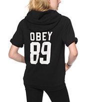 Obey 89 Black Short Sleeve Hoodie
