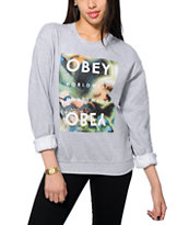 Obey Agate Stone Worldwide Crew Neck Sweatshirt