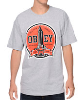 Obey All-City League Heather Grey Tee Shirt