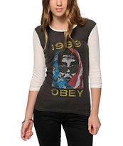 Obey American Wasteland Baseball T-Shirt