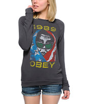 Obey American Wasteland Graphite Knit Crew Neck Sweatshirt