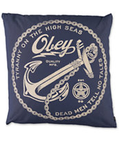 Obey Anchor Navy Throw Pillow