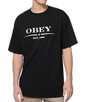 Obey Au Courant Black Tee Shirt
