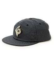 Obey Avery Black Polka Dot Throwback Strapback Hat