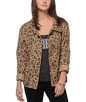 Obey Ballard Leopard Print Jacket