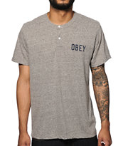 Obey Basement Henley T-Shirt