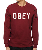 Obey Bearing Long Sleeve T-Shirt