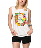 Obey Beer Garden Natural Muscle Tee