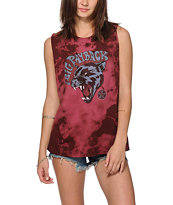 Obey Big Payback Burgundy Tie Dye Muscle Tee