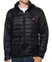Obey Blackout Black Puffy Hooded Jacket
