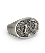 Obey Borderline Silver Ring