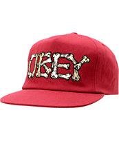 Obey Brigade Burgundy Snapback Hat