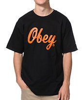 Obey Bringing It Back Black Tee Shirt