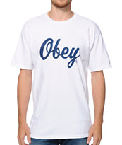 Obey Bringing It Back White Tee Shirt