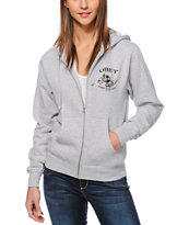 Obey Broken Bottles Zip Up Hoodie
