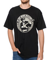 Obey By Any Means Necessary Black Tee Shirt