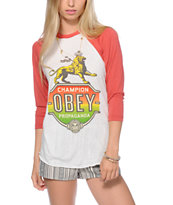 Obey Champion Lion Baseball Tee