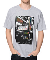 Obey Chinese Streets Heather Grey Tee Shirt