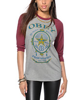 Obey Chronic Baseball T-Shirt