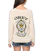 Obey Chronic Natural Knit Crew Neck Sweatshirt